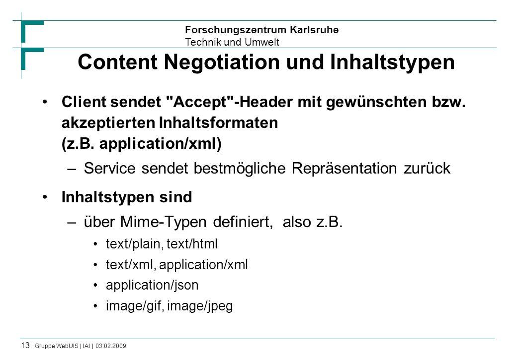 Content Negotiation und Inhaltstypen