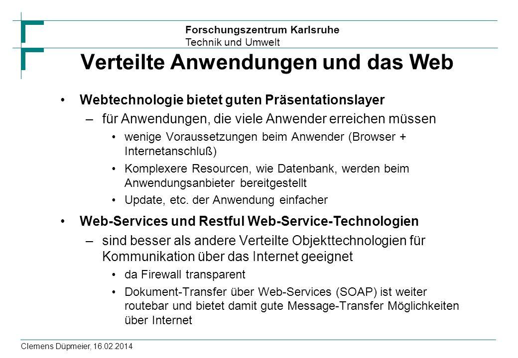 Verteilte Anwendungen und das Web