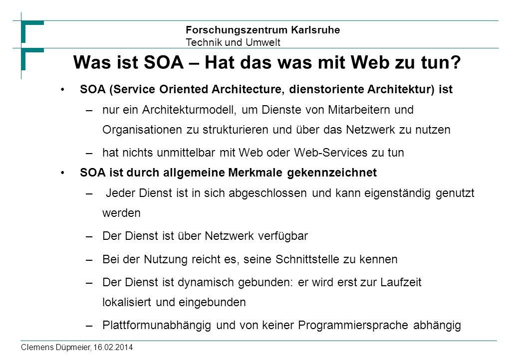 Was ist SOA – Hat das was mit Web zu tun