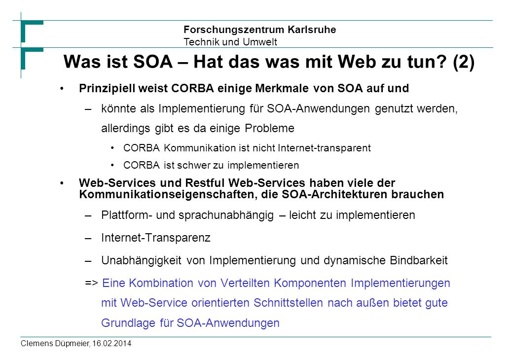 Was ist SOA – Hat das was mit Web zu tun (2)