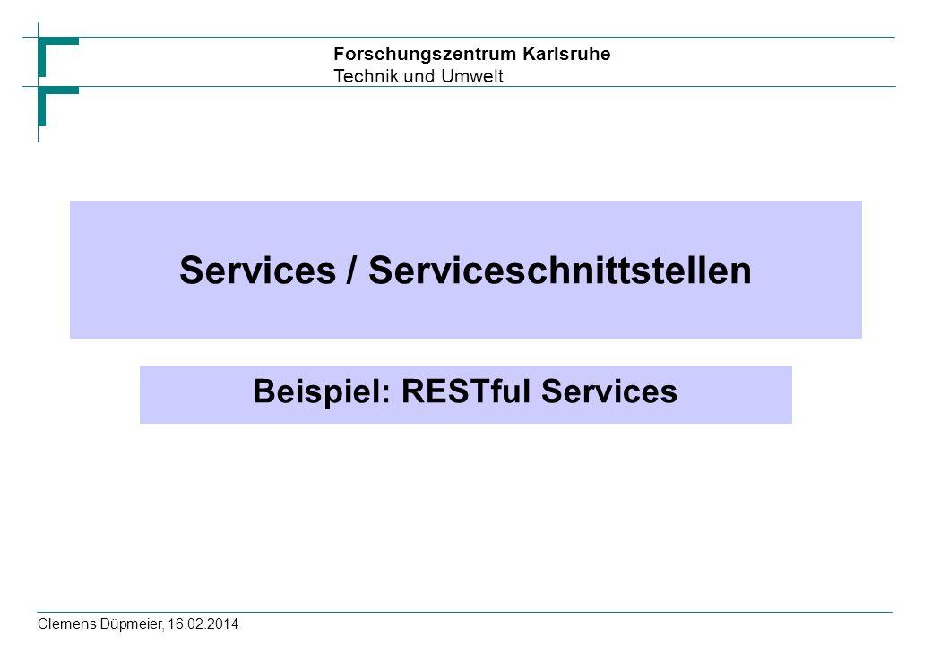 Services / Serviceschnittstellen