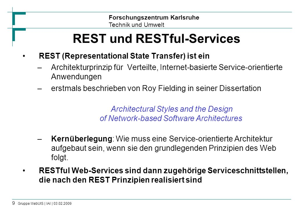 REST und RESTful-Services