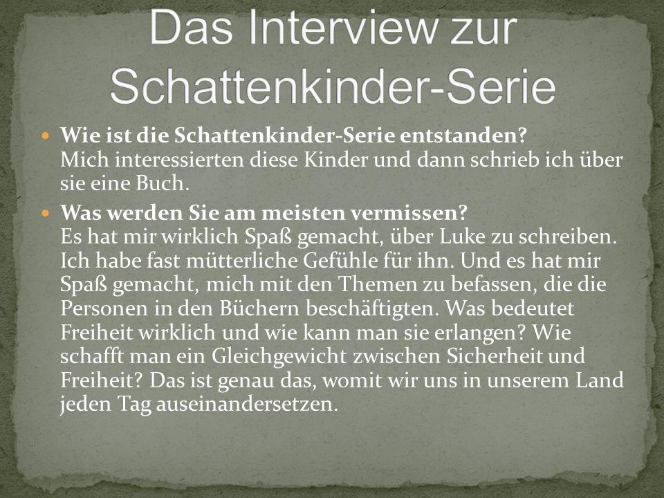 Das Interview zur Schattenkinder-Serie