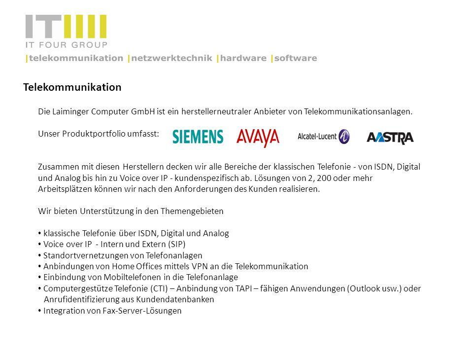 TelekommunikationDie Laiminger Computer GmbH ist ein herstellerneutraler Anbieter von Telekommunikationsanlagen.