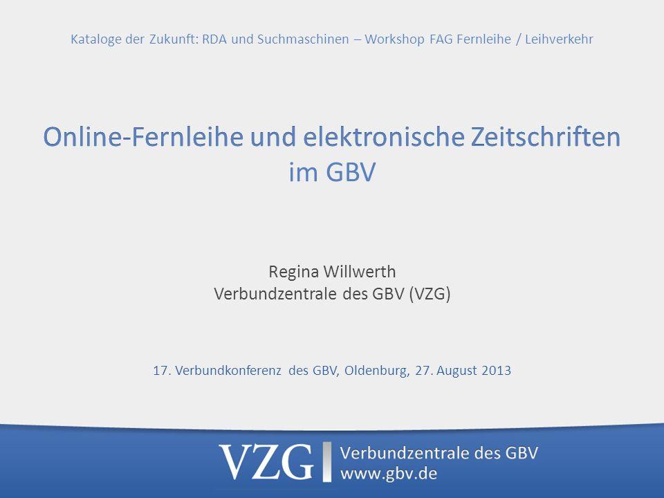 Verbundzentrale des GBV (VZG)