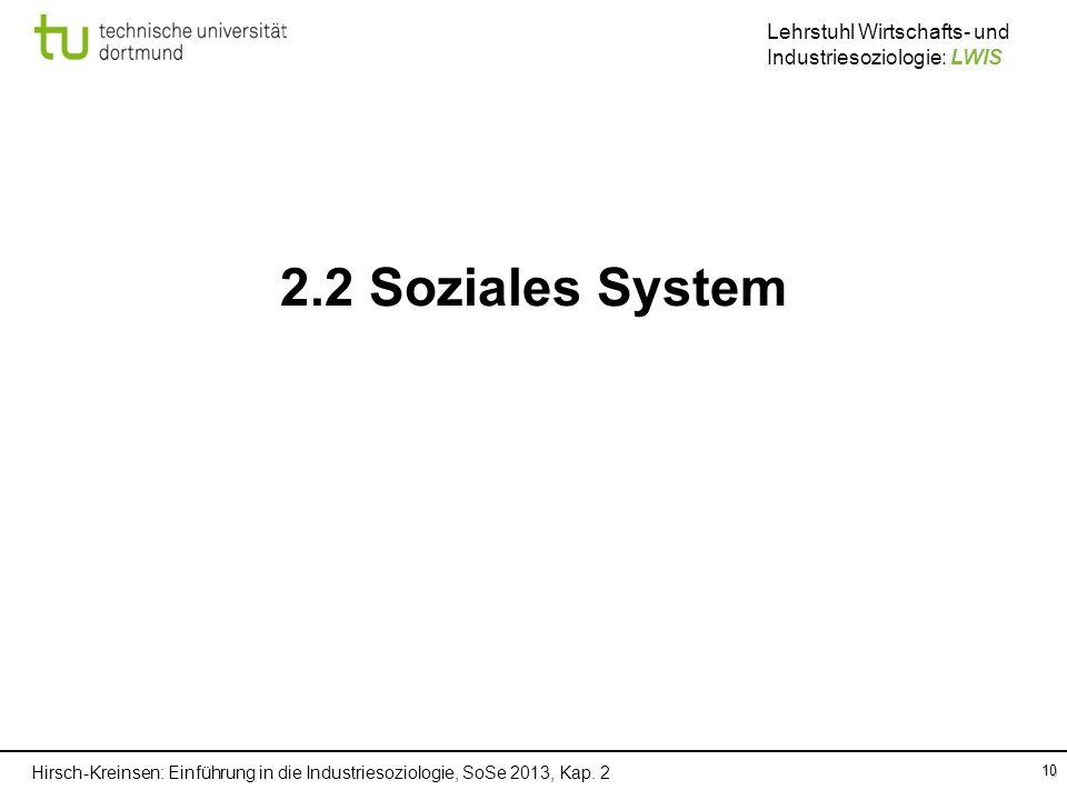 2.2 Soziales System