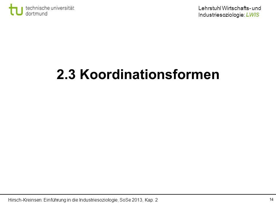 2.3 Koordinationsformen