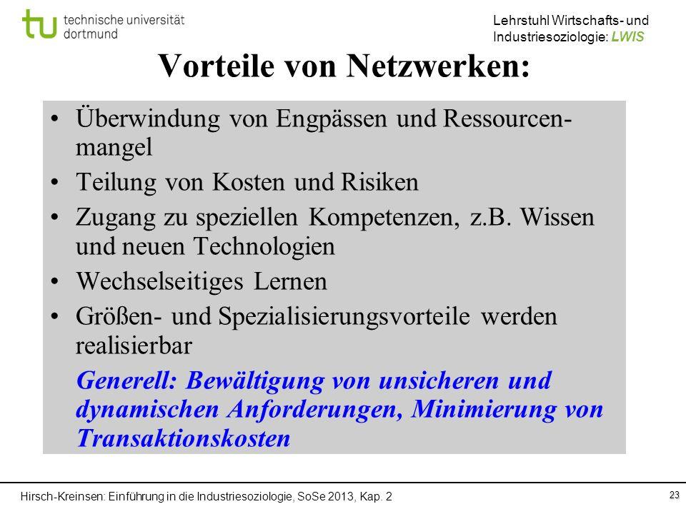 Vorteile von Netzwerken: