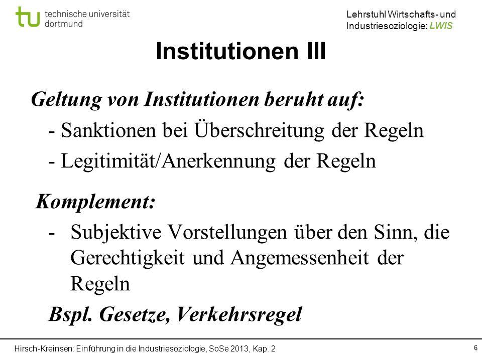 Institutionen III