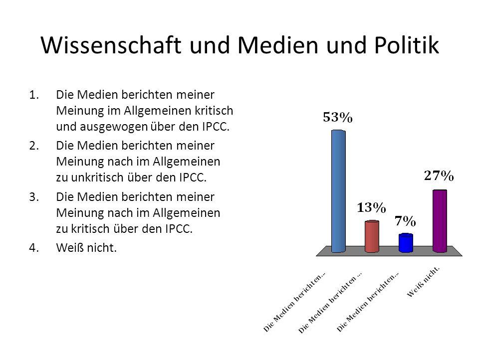 Wissenschaft und Medien und Politik