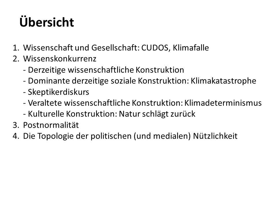 Übersicht Wissenschaft und Gesellschaft: CUDOS, Klimafalle
