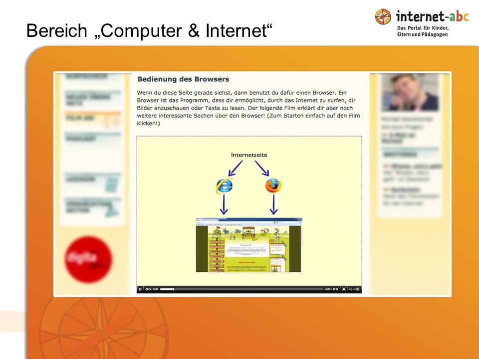 """Bereich """"Computer & Internet"""