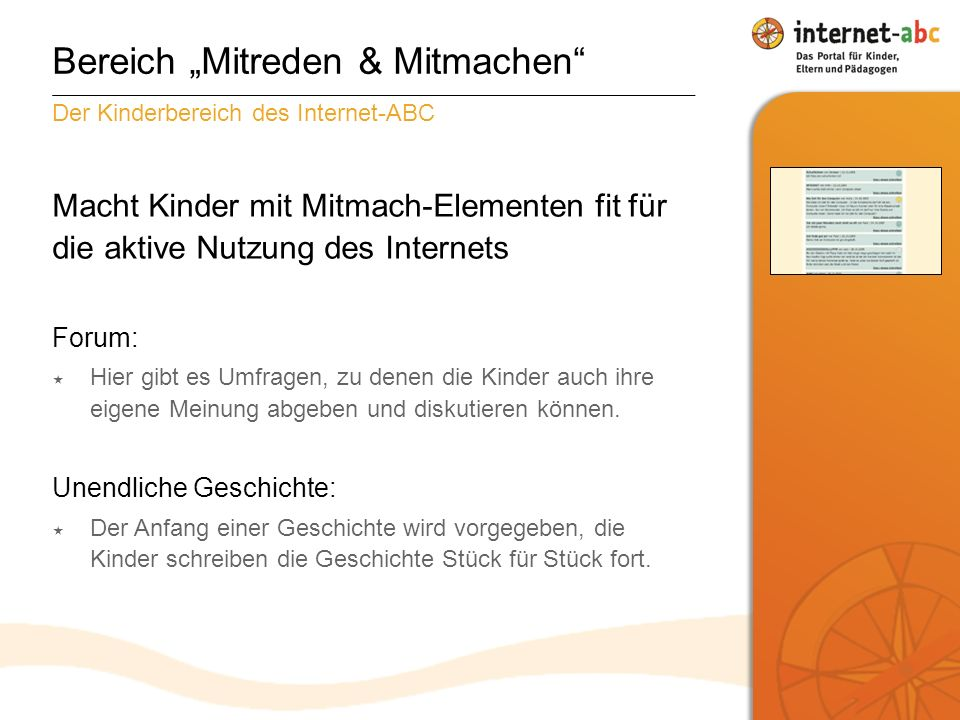 """Bereich """"Mitreden & Mitmachen"""