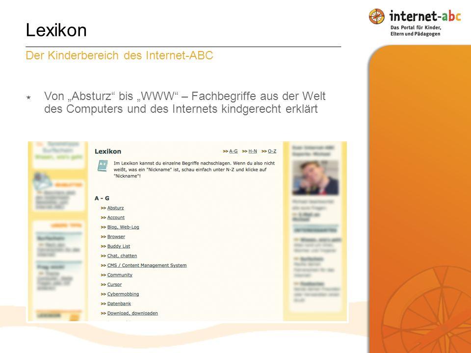Lexikon Der Kinderbereich des Internet-ABC