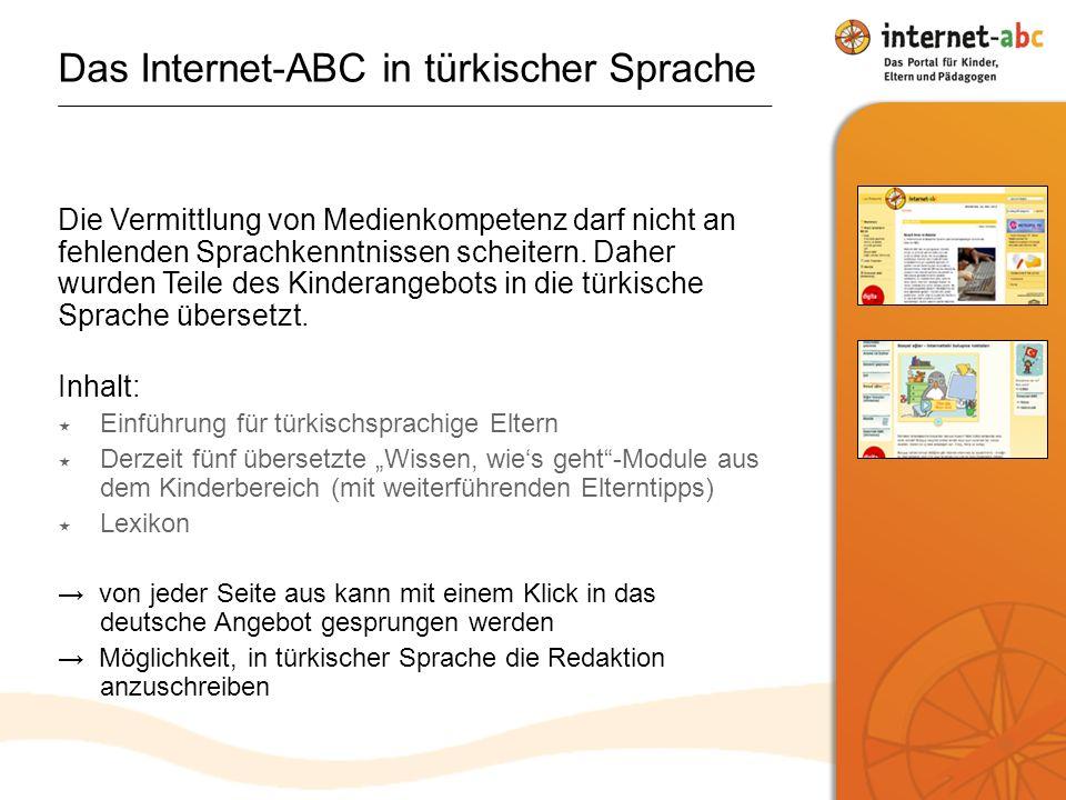 Das Internet-ABC in türkischer Sprache