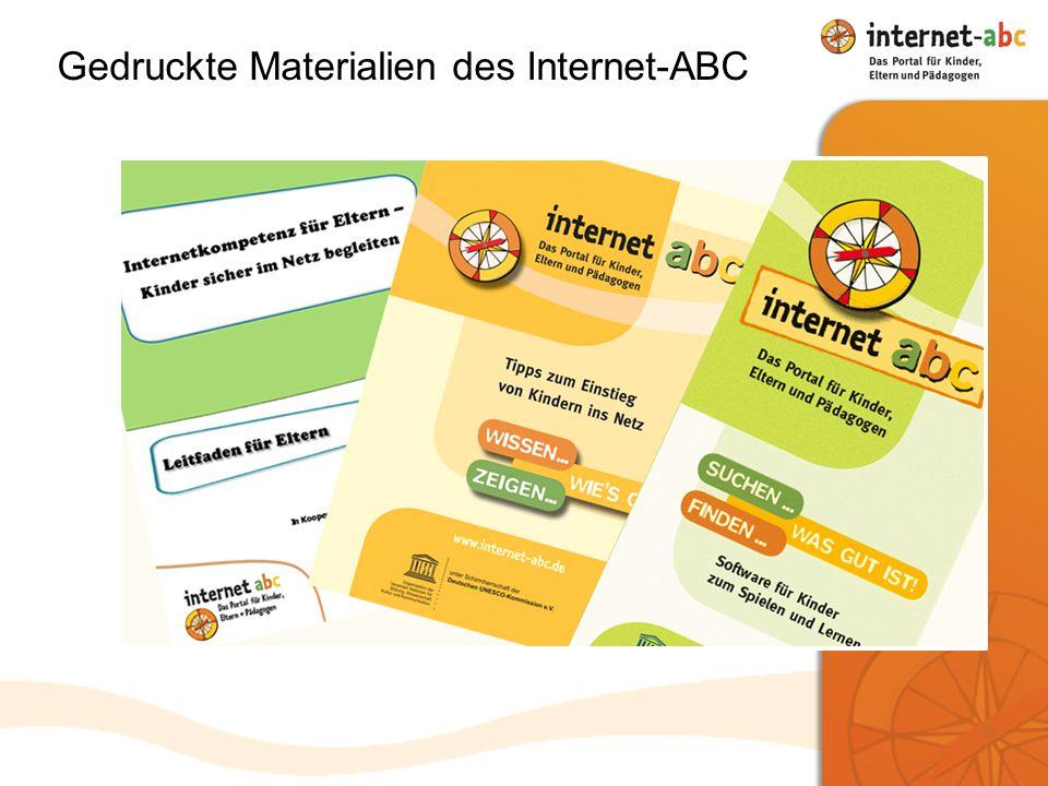 Gedruckte Materialien des Internet-ABC