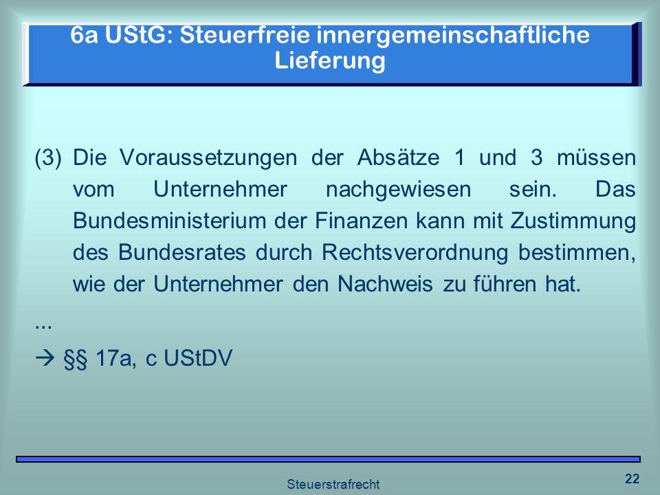 6a UStG: Steuerfreie innergemeinschaftliche Lieferung
