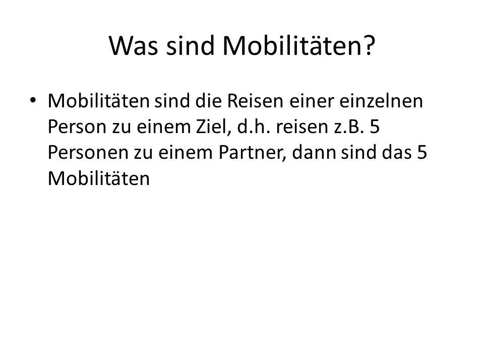 Was sind Mobilitäten