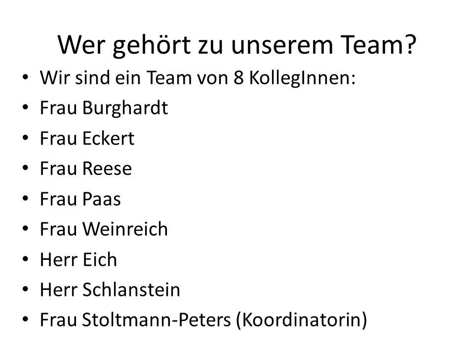 Wer gehört zu unserem Team