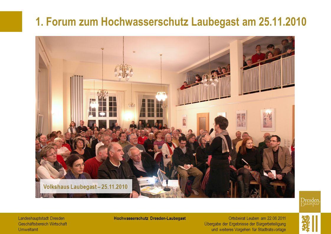 1. Forum zum Hochwasserschutz Laubegast am 25.11.2010