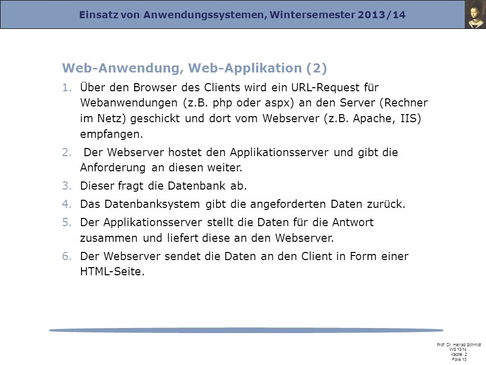 Web-Anwendung, Web-Applikation (2)