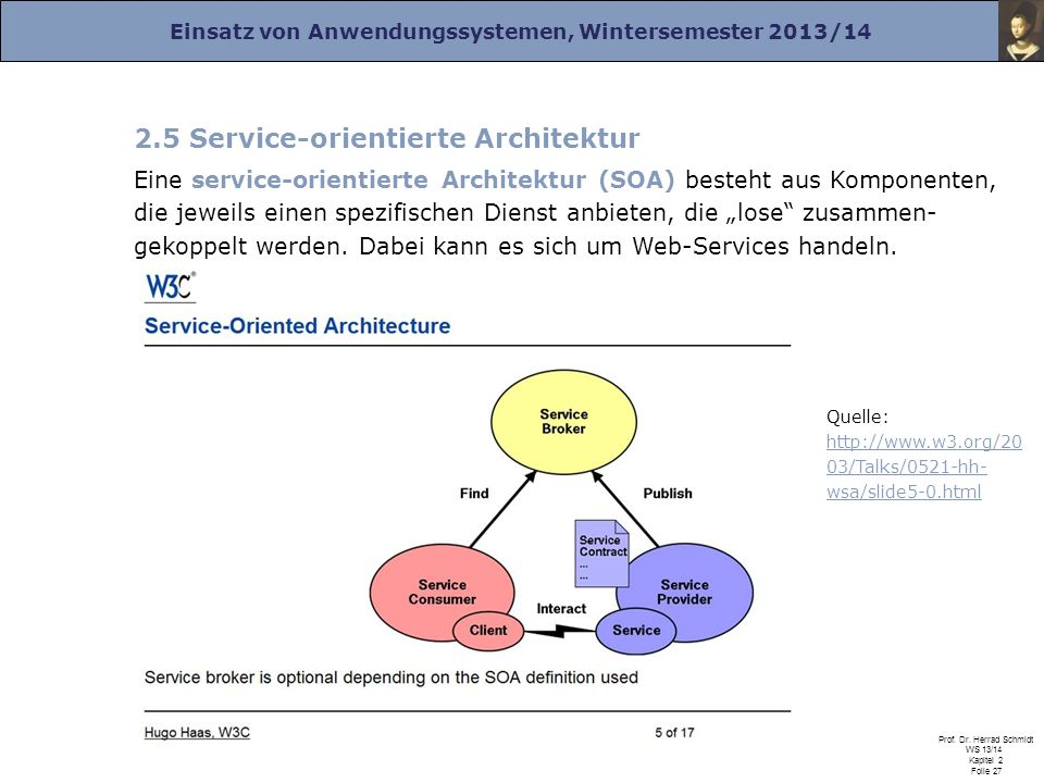 2.5 Service-orientierte Architektur