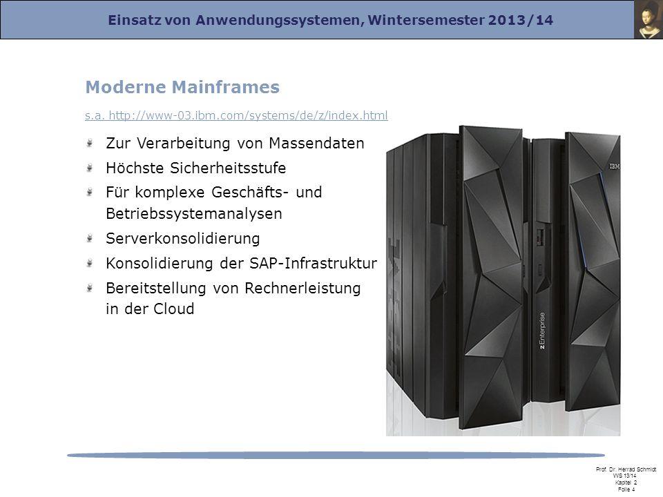 Moderne Mainframes Zur Verarbeitung von Massendaten