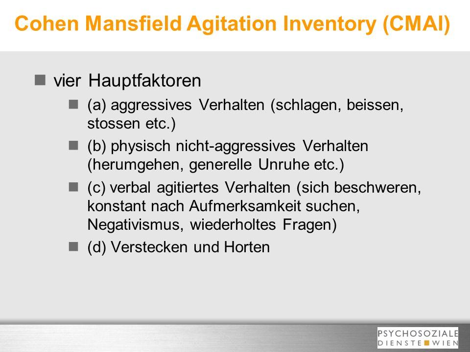 Cohen Mansfield Agitation Inventory (CMAI)