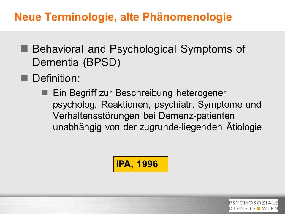 Neue Terminologie, alte Phänomenologie