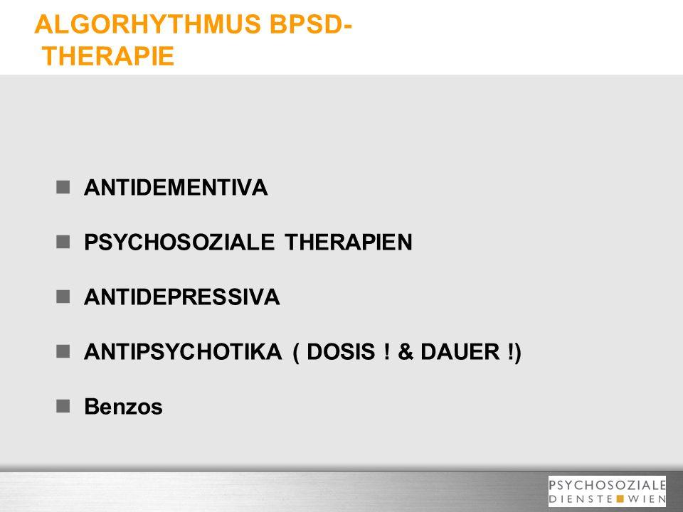 ALGORHYTHMUS BPSD- THERAPIE