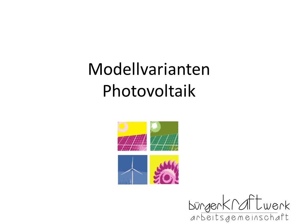 Modellvarianten Photovoltaik