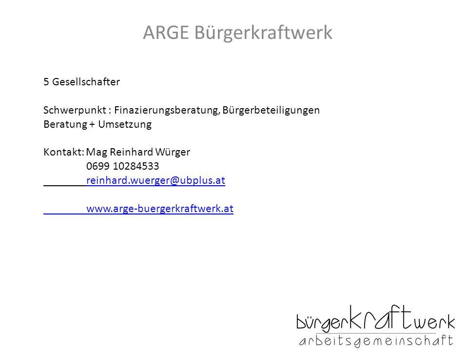 ARGE Bürgerkraftwerk 5 Gesellschafter