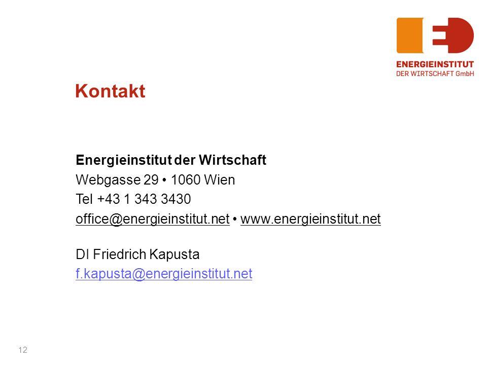 Kontakt Energieinstitut der Wirtschaft Webgasse 29 • 1060 Wien