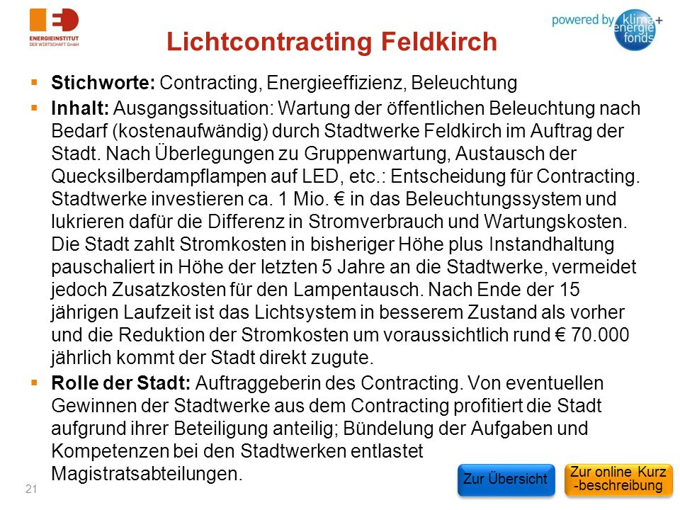 Lichtcontracting Feldkirch