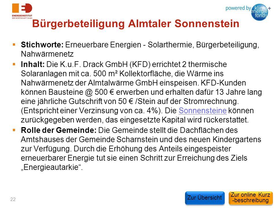 Bürgerbeteiligung Almtaler Sonnenstein