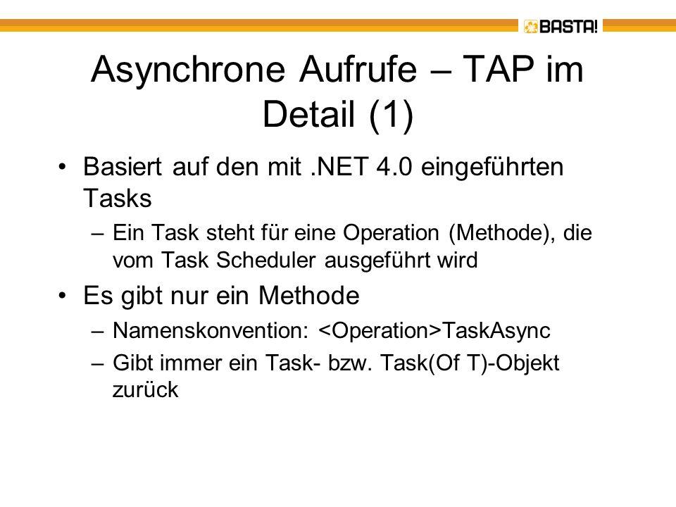 Asynchrone Aufrufe – TAP im Detail (1)