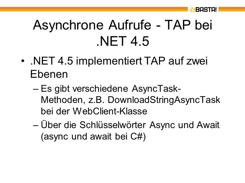 Asynchrone Aufrufe - TAP bei .NET 4.5