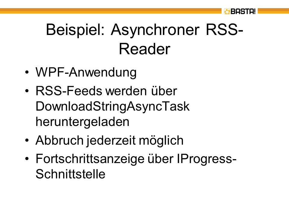 Beispiel: Asynchroner RSS-Reader