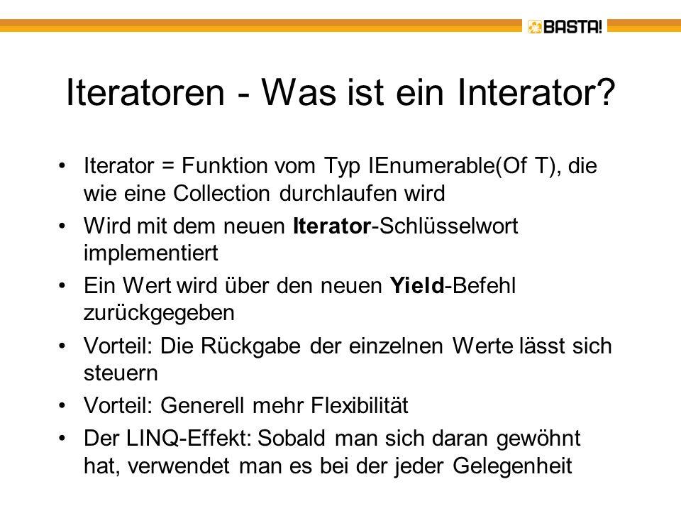 Iteratoren - Was ist ein Interator