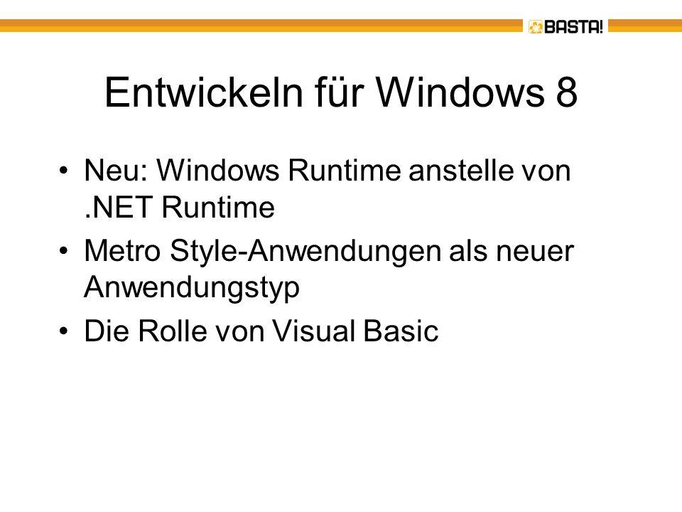 Entwickeln für Windows 8