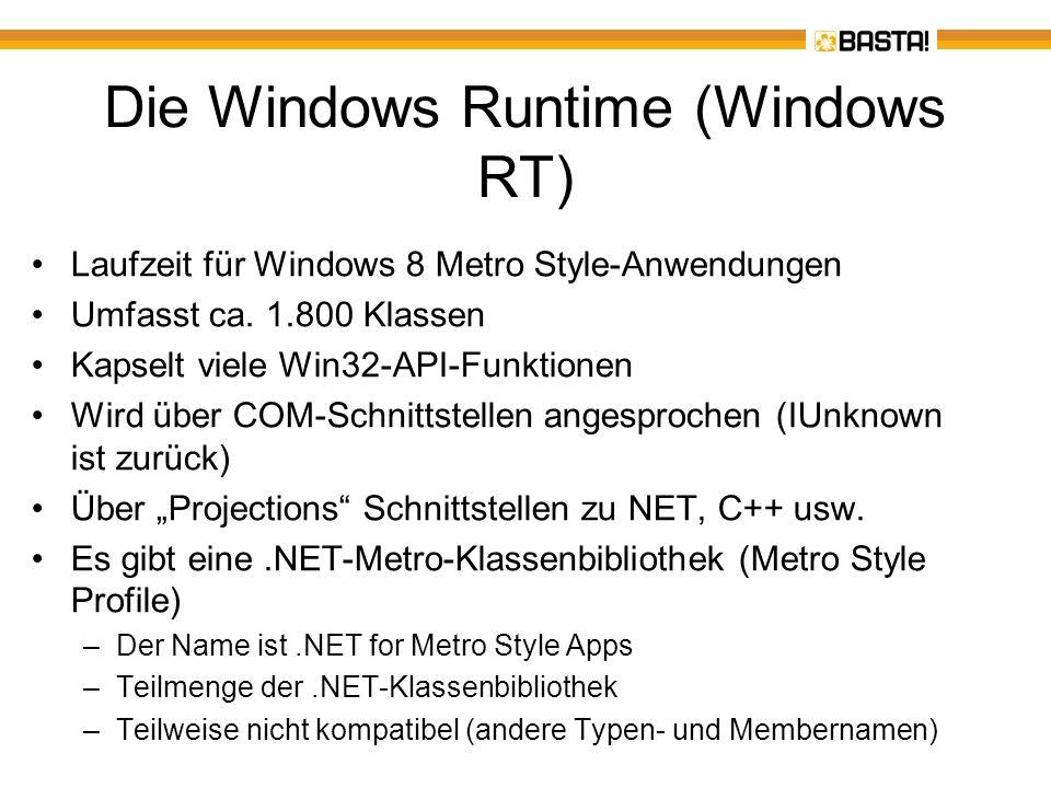 Die Windows Runtime (Windows RT)
