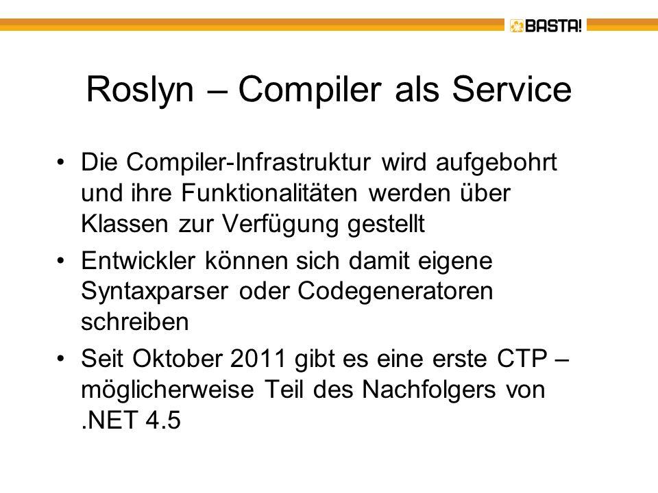 Roslyn – Compiler als Service