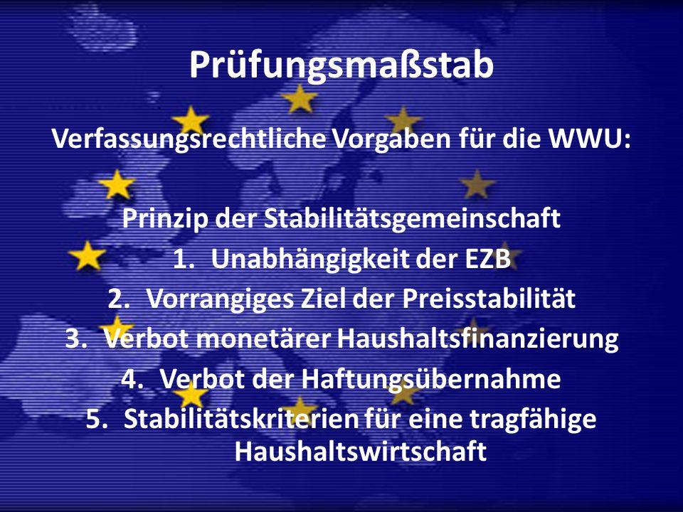 Prüfungsmaßstab Verfassungsrechtliche Vorgaben für die WWU: