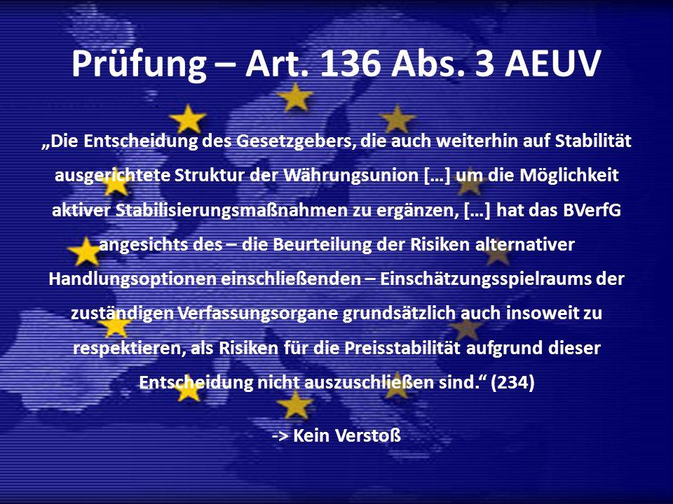 Prüfung – Art. 136 Abs. 3 AEUV