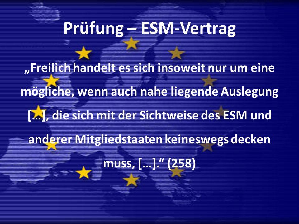 Prüfung – ESM-Vertrag