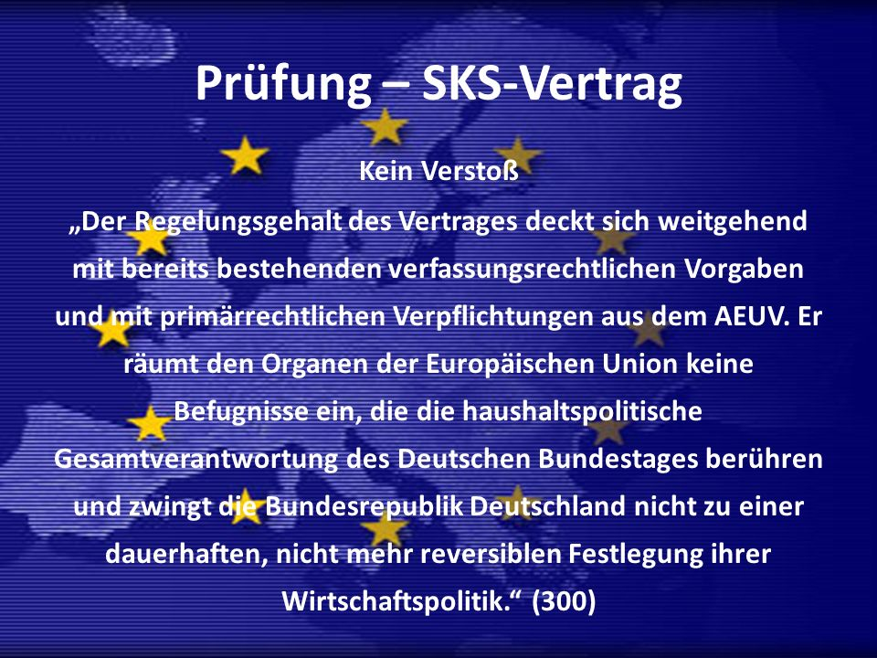 Prüfung – SKS-Vertrag