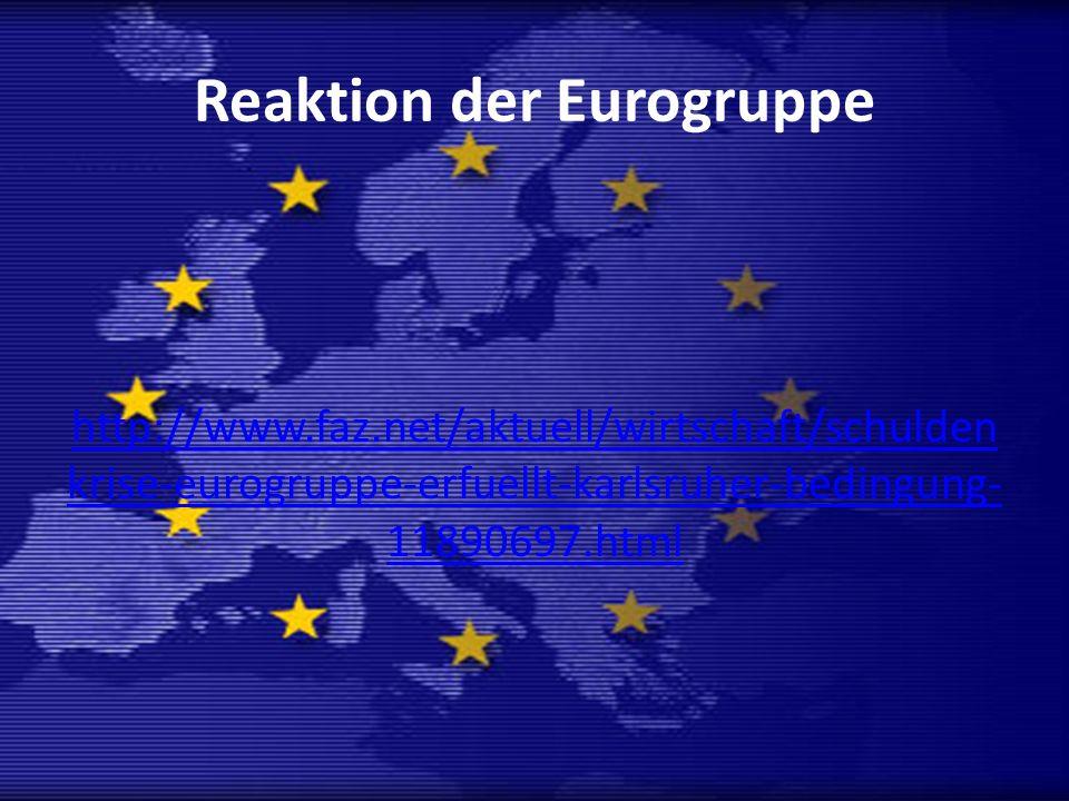 Reaktion der Eurogruppe
