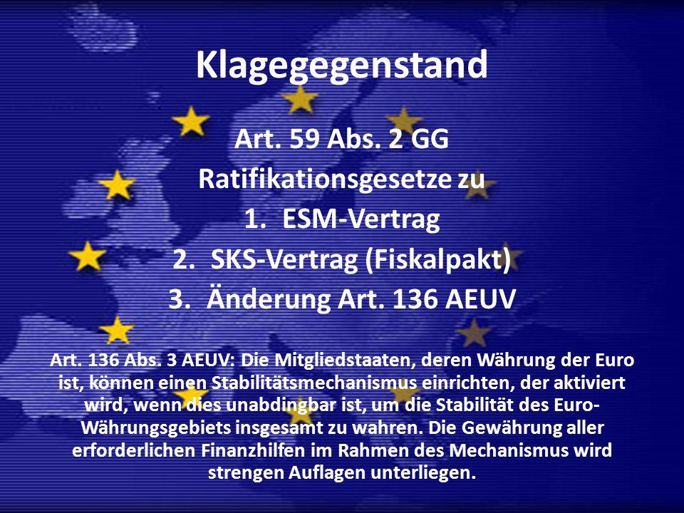 Ratifikationsgesetze zu SKS-Vertrag (Fiskalpakt)