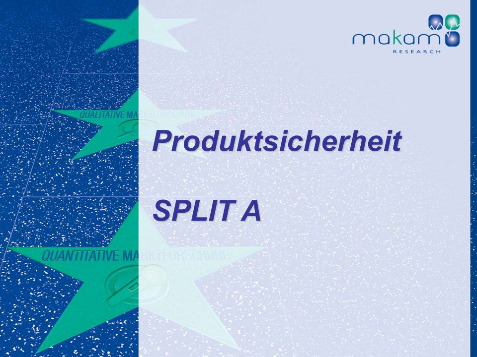 Produktsicherheit SPLIT A