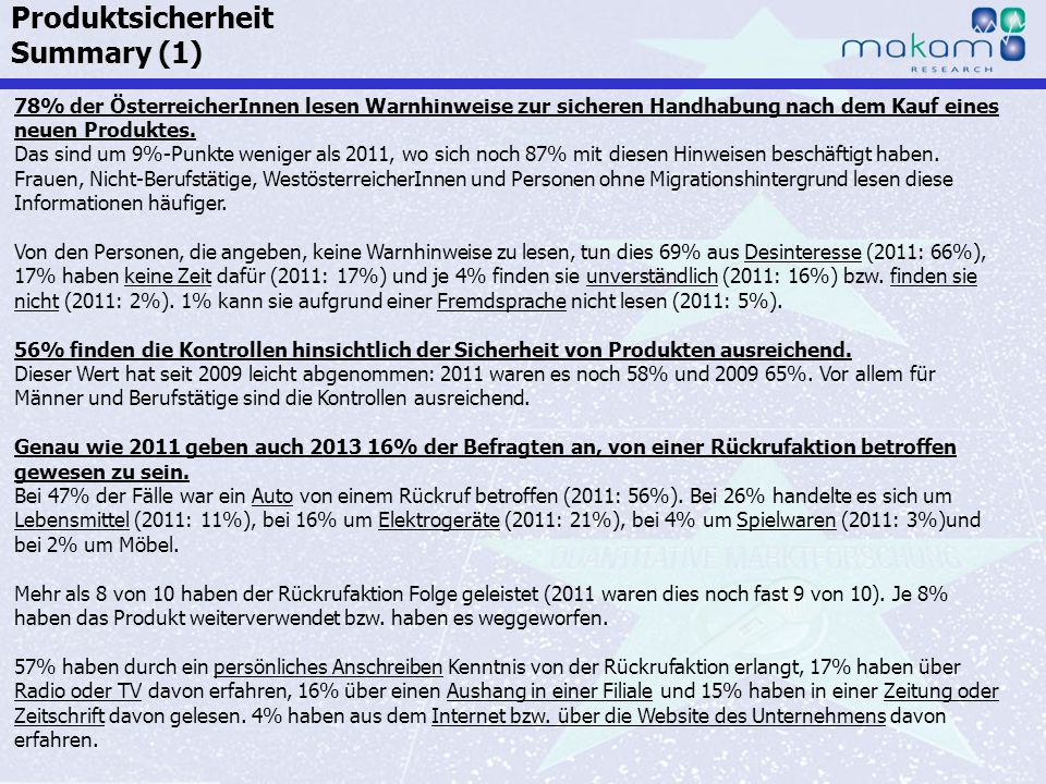 Produktsicherheit Summary (1)